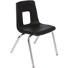 "SchoolOutlet Stack Chair w/ Chrome Legs - 18"" Seat Height - Ships Today"