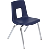 "SchoolOutlet Stack Chair w/ Chrome Legs - 18"" Seat Height"