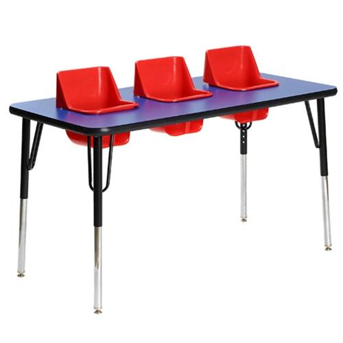 Three Seat Rectangular Toddler Table Toddler Tables TOD TT3
