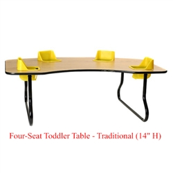 "Four-Seat Toddler Table - Traditional (14"" H)  (Toddler Tables TOD-TT414)"