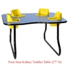 "Four-Seat Kidney Toddler Table - Space Saver (27"" H)  (Toddler Tables TOD-TT427SS)"