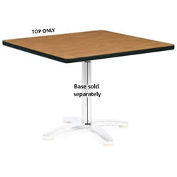 "Virco U2430 - Rectangular 24"" x 30"" cafe top, 1 1/8"" thick high pressure laminate  (Virco U2430)"