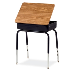Virco-751-ASAP - Lift Lid School Desk - Medium Oak Top Frame (Virco-751-ASAP)