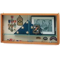 "Waddell Specialty Memento Wall Display Case - 30""W x 15""H x 3½""D(Waddell WAD-88-1530K-PB)"
