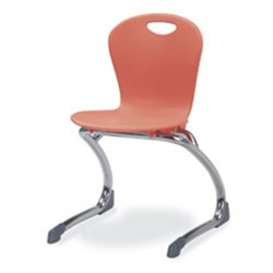 "Virco ZCANT13 - ZUMA® Series Cantilevered Legged Ergonomic Chair, Contoured Seat/Back - 13"" Seat Height  (Virco ZCANT13)"