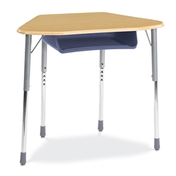 Virco ZHEXBOXM - ZUMA® Student Desk, Trapezoid Top for 6-Desk Groupings, Book Box  (Virco ZHEXBOXM)