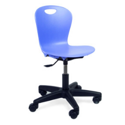 "Virco ZTASK15 - Zuma Series Mobile Task Chair with Wheels - Seat adjusts 14"" - 17""  (Virco ZTASK15)"