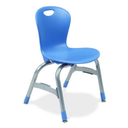 "Virco ZU413 - Zuma Series 4-Legged Ergonomic Chair, Contoured Seat/Back - 13"" Seat Height  (Virco ZU413)"
