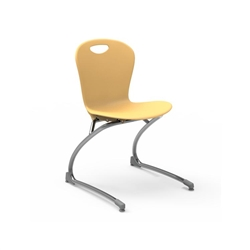 "Virco ZCANT18 - Zuma Series Cantilevered Legged Ergonomic Chair, Contoured Seat/Back - 19"" Seat Height  (Virco ZCANT18)"