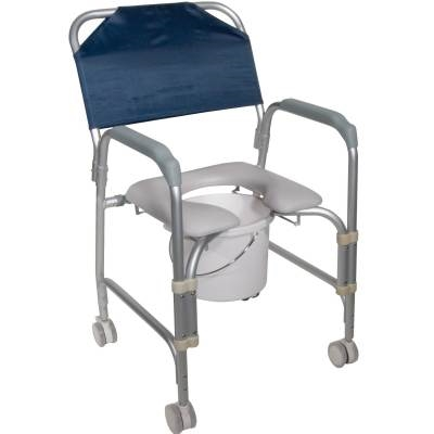 Drive Shower Commode Chair, 11114KD-1 - Rolling Shower Commode Chair - Drive Medical 11114KD-1