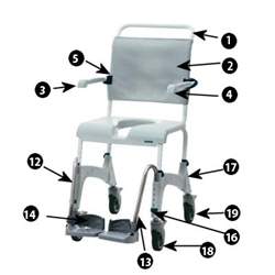 Aquatec Ocean Shower Wheelchair Parts