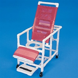 PVC Reclining Commode Chair