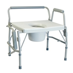 Lumex Bariatric Bed-Side Commode