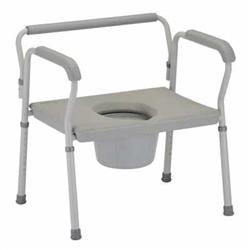 Heavy Duty Commode with Wide Seat