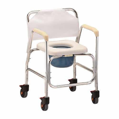 Rehab Shower / Commode Chair - Nova 8800 Shower-Commode Chair With Wheels - Rolling Commode Chair
