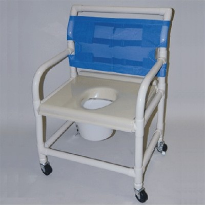 PVC Shower Commode Chair. 24  PVC Shower and Commode Chair   Extra Wide Healthline Wheelchair