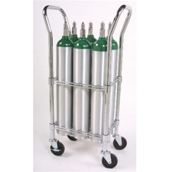 Oxygen Cylinder Cart for D and E cylinders.