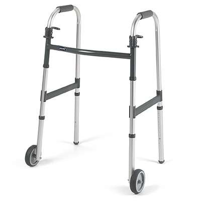 Invacare Junior Adult Walker Fixed Front Wheels Folding Seat