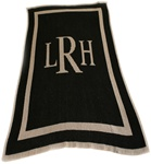 Personalized Blanket Classic Monogram Cashmere