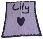 Personalized Heart Cashmere Blanket