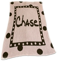 Personalized Blanket with Large Polka Dots Name
