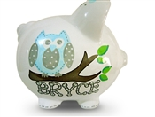 Blue Owl piggy bank