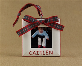Bow Personalized Photo Ornament