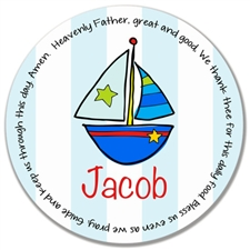 Boat Prayer Plate