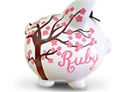 Cherry Blossom Tree piggy bank