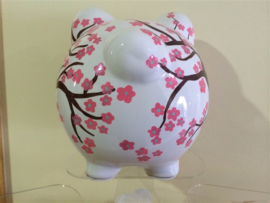 Cherry Blossom Personalized Piggy Bank Cute Piggy Banks