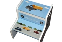 Cars Trucks storage stool