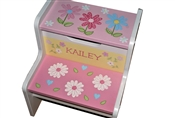 Daisy Flowers storage stool