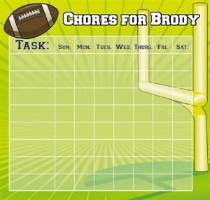 Boy S Chore Chart Football Personalized Chore Chart