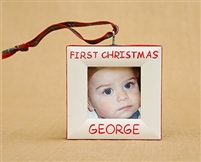 First Christmas  Personalized Photo Ornament