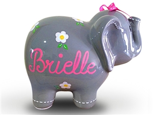 Flowers elephant piggy bank