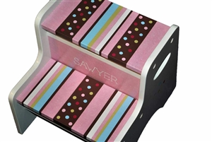 Girl MultiDot storage stool