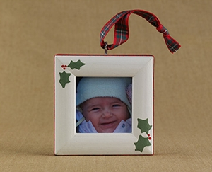 Holly Personalized Photo Ornament