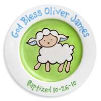 Lovable Lamb Plate Boy