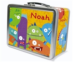 Monster Lunch Box Metal Lunch Box For Kids Tiny Keepsakes