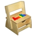Personalized Puzzle step N store SOLID wood stool