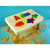 Fish Personalized puzzle step Stool