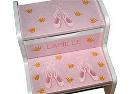 Pink Ballet slippers storage stool