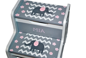 Pink Elephant storage stool
