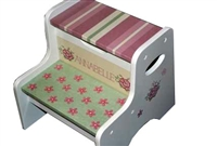 Patchwork Pink Floral storage stool