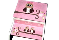 Pink Owl storage stool
