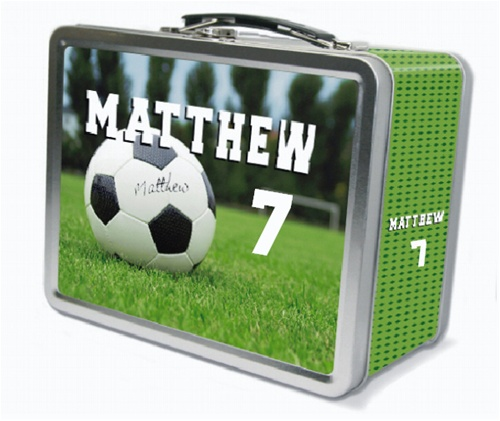 Soccer Lunch Box Kids Metal Lunch Box Tiny Keepsakes