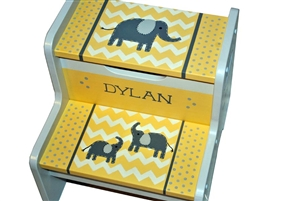 Yellow Elephant storage stool
