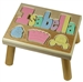 personalized puzzle step stool nat maple princess
