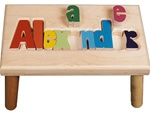 personalized puzzle step stool nat maple