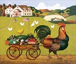 Rooster Express*, Canvas